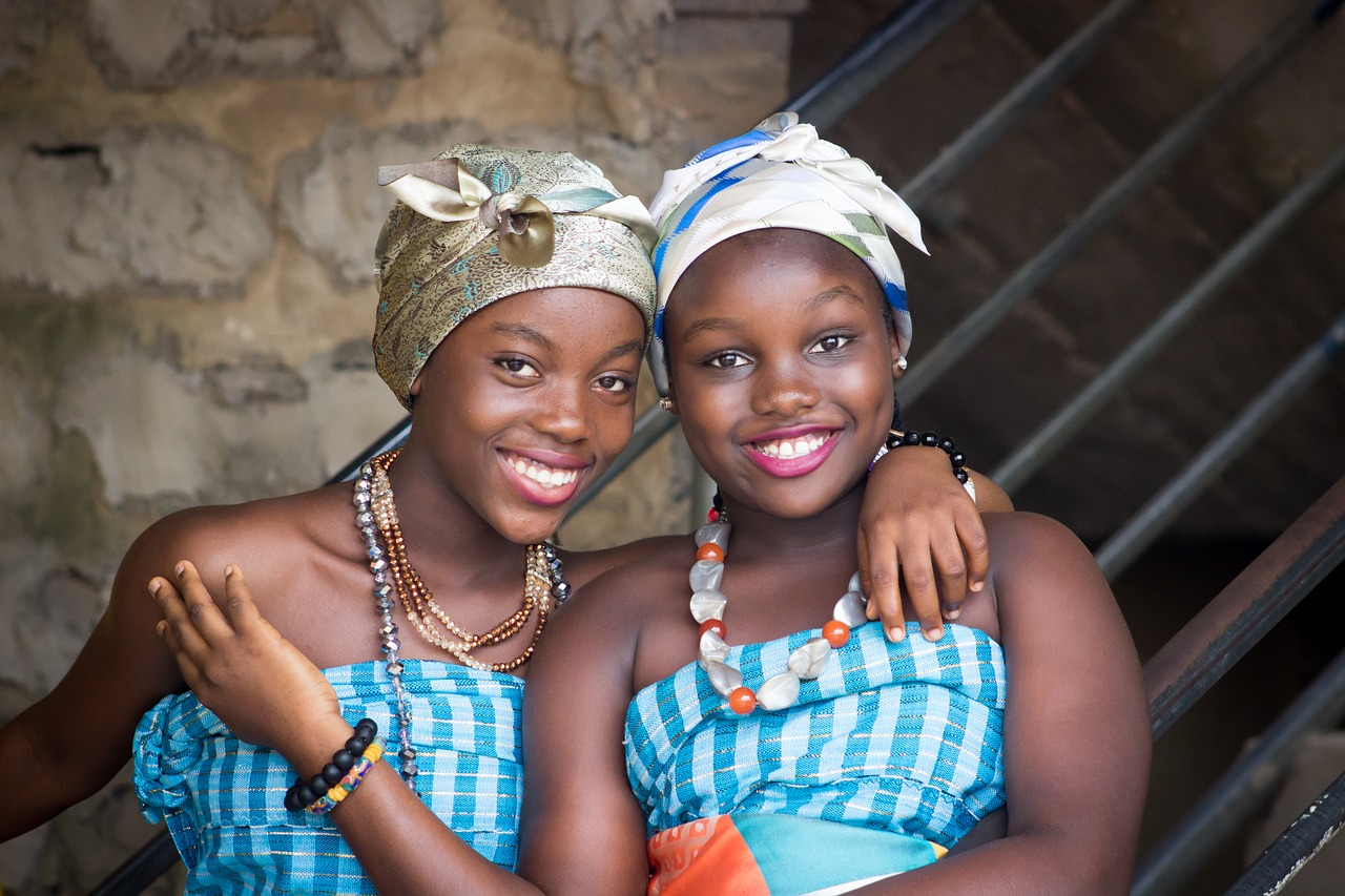 Image of two African girls - menstruation awareness